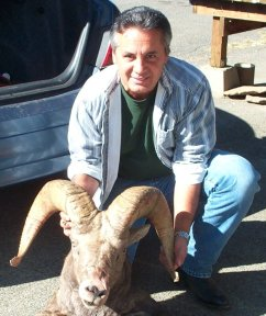 Toby Nason with Bighorn Sheep, taken in 2006