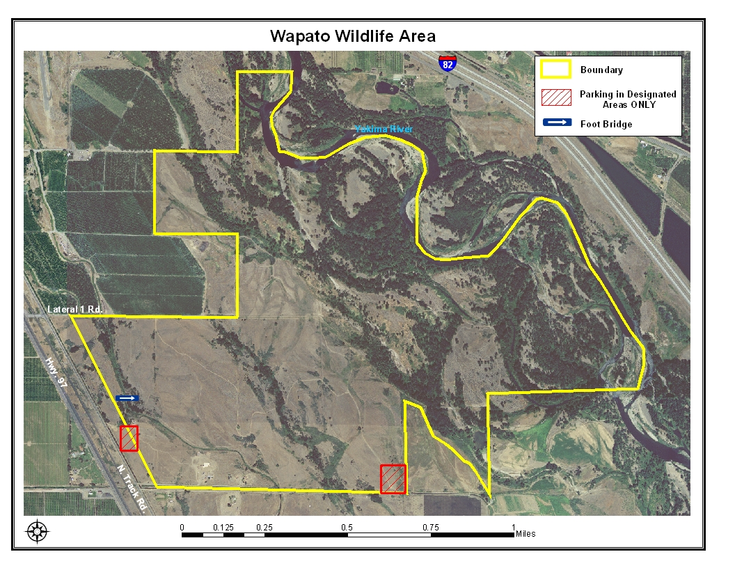 Wapato Wildlife Area Aerial Map, Click To Enlarge